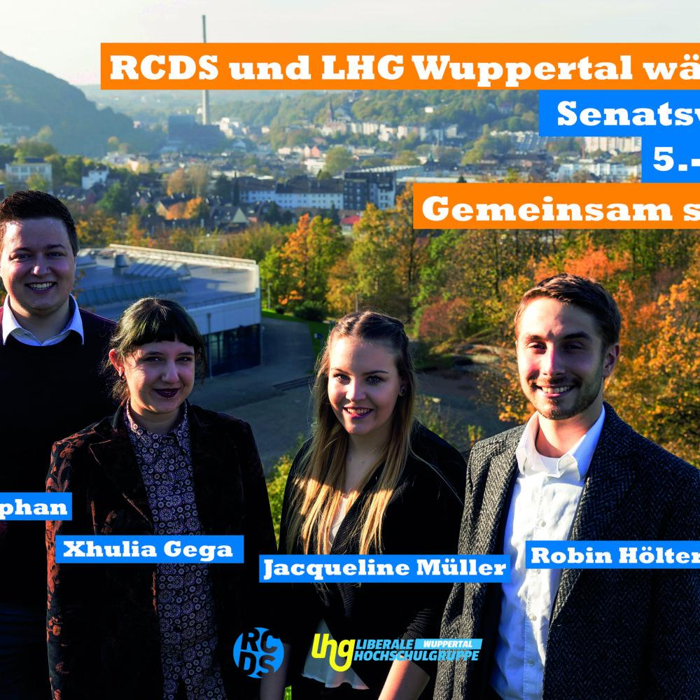 Plakat von RCDS und LHG Wuppertal