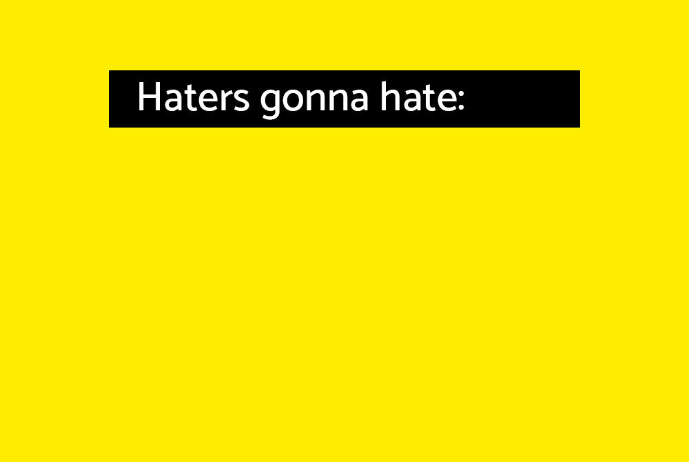 Haters gonna hate Kampagne StuPa Wahl 2018